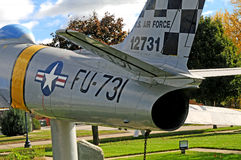 F86 Sabrejet空军队战斗机 库存图片