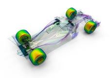 F1 samochodu prześwietlenie ilustracja wektor