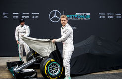 F1 SEASON 2016 PRESENTATION OF MERCEDES AMG F1 TEAM Stock Image