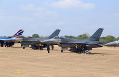 F-16 show on children's Day at Korat Wing 1 Royal Thai Airforce Stock Photo