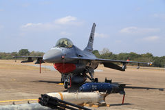 F-16 show on children's Day at Korat Wing 1 Royal Thai Airforce Stock Photography