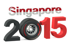 F1 Singapore race 2015. Concept Royalty Free Stock Image