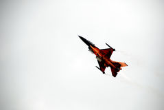F-16 in the sky Royalty Free Stock Photography