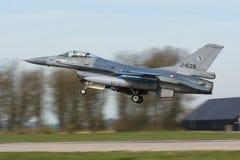 F-16 322 sqn RNLAF战隼弗里斯兰省人的下垂 库存图片