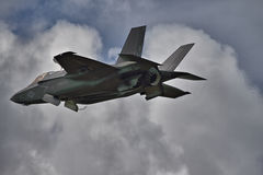 F-35 Stealth Fighter in hover mode Royalty Free Stock Image