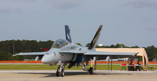 F/A-18 Super Hornet. USN F/A-18 Super Hornet on Display at the MCAS Air Show in Beaufort, SC stock photography