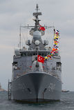 F-243 TCG Yildirim frigate Stock Photography