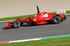 F1 Test 2012 Mugello Felipe Massa Royalty-vrije Stock Afbeelding