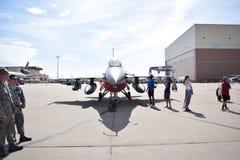 F16. Tinker afb air show Stock Photos