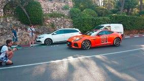 F-tipo anaranjado general Lee In Monaco de Jaguar metrajes
