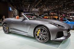 F-tipo 2017 de Jaguar coche del descapotable de SVR fotografía de archivo