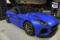 F-tipo 2017 de Jaguar cupê de SVR imagens de stock