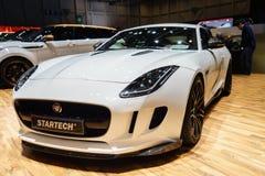 F-tipo de Startech Jaguar, salón del automóvil Geneve 2015 foto de archivo libre de regalías