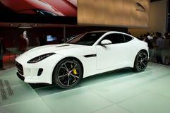 F-tipo Genebra 2014 de Jaguar Fotos de Stock Royalty Free