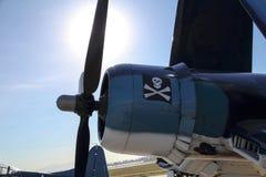 F4U Corsair frontal. F4U Corsair Fuselage and propeller stock images