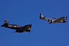 F4U Corsair and P51D Mustang Stock Photography