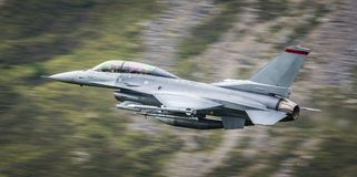 F16 vechters straalvliegtuigen stock afbeeldingen