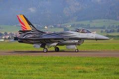 F16 vechtersstraal van de Belgische Luchtmacht Stock Afbeelding