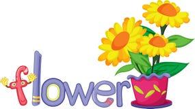 F voor bloem vector illustratie