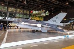 F16 w Krajowym Militarnym muzeum Fotografia Royalty Free