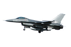F-16 war plane isolated on a white background Royalty Free Stock Image