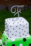 F Wedding Cake Topper Royalty Free Stock Photo