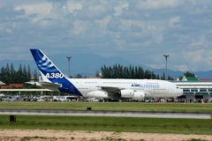 F-WWJB空中客车A380-800 免版税图库摄影