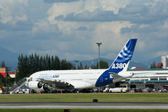 F-WWJB空中客车A380-800 免版税库存照片