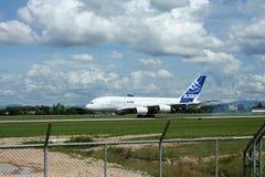 F-WWJB Luchtbus A380-800 Stock Afbeelding