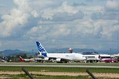 F-WWJB Luchtbus A380-800 Royalty-vrije Stock Foto's