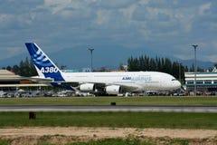 F-WWJB Luchtbus A380-800 Royalty-vrije Stock Afbeeldingen