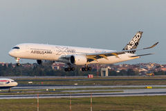 F-WWYB Airbus A350-941 Foto de Stock Royalty Free
