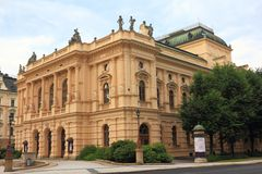 The F. X. Salda theatre in Liberec Royalty Free Stock Images