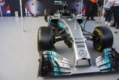 F1 Żyją Londyńskiego Mercedez samochód obraz royalty free