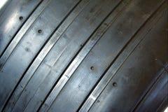 f1油滑的轮胎 库存照片