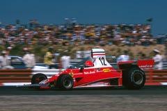 F1 1975 - Niki Lauda Ferrari Stock Afbeeldingen