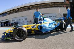 F1 2004 - Franck Montagny Renault Royalty Free Stock Images