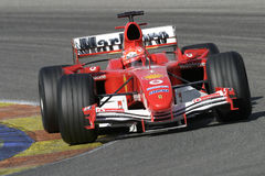 F1 2005 - Michael Schumacher Ferrari Foto de Stock Royalty Free