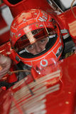 F1 2005 - Michael Schumacher Ferrari. Michael Schumacher, Ferrari F2005, during Formula One test in Barcelona - January 2005 Royalty Free Stock Images
