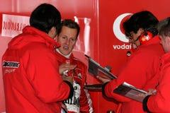 F1 2005 - Michael Schumacher Ferrari stock photo