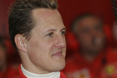 F1 2005 - Michael Schumacher Ferrari Royalty Free Stock Photography
