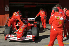 F1 2005 - Rubens Barrichello Ferrari Royalty Free Stock Photo
