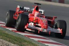 F1 2006年-迈克尔Schumacher Ferrari 库存图片