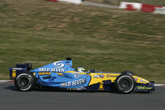 F1 2006 - Giancarlo Fisichella Renault Stock Afbeelding