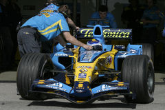 F1 2006 - Heikki Kovalainen Renault Arkivbilder