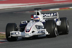 F1 2006 - Jacques Villeneuve BMW Sauber Arkivfoton