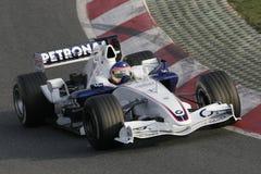 F1 2006 - Jacques Villeneuve BMW Sauber Royaltyfria Foton