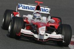 F1 2006 - Jarno Trulli Toyota Arkivfoto