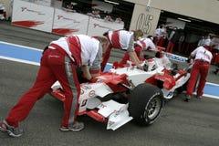 F1 2006 - Jarno Trulli Toyota Arkivbilder