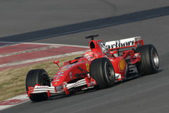 F1 2006 - Michael Schumacher Ferrari Foto de Stock Royalty Free